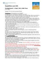 Predigt vom 02.09.2012 in Thun über