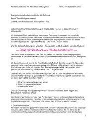 Partnerschaftsbrief Thun - EMK Thun / Heiligenschwendi