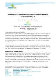 E-Channel Concept for Customer Relationship ... - centrestage.de