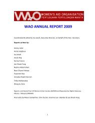 WAO ANNUAL REPORT 2009 - Women's Aid Organisation