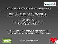 Wie Duvenbeck die Fahrer nachhaltig begleitet, Frank ... - EU-BKF.de