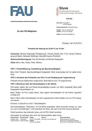 25.05.2013 - Stuve Uni Erlangen-Nürnberg