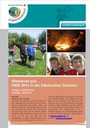 HIKE 2013 in der fränkischen Schweiz - JRK Nürnberg