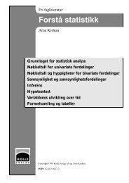 Krokan 1998 Forstå statistikk