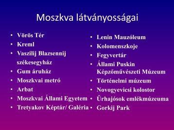 Moszkva látványosságai (PDF)