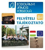 letöltés (pdf) - Kodolányi János Főiskola