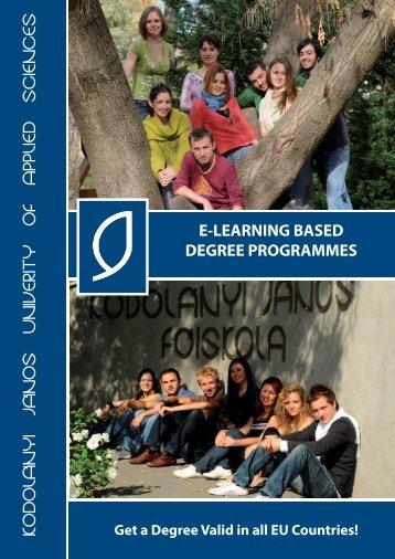 e-learning programmes - Kodolányi János Főiskola