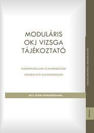 MODULÁRIS OKJ VIZSGA TÁJÉKOZTATÓ - Kodolányi János Főiskola