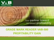 Download the technical specifications (PDF) - VAB Solutions