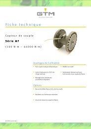 Fiche technique Serie MF - GTM GmbH