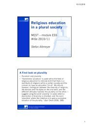 Religious education in a plural society - Seminar für ...
