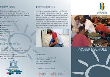 UNESCO- PROJEKT-SCHULE - Jugendhilfezentrum Bernardshof