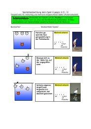 Spielerbeobachtung beim Spiel 4 gegen 4 (3 : 1)