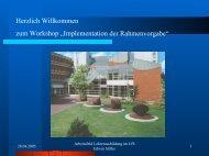 Implementation der Rahmenvorgabe - Zentren für schulpraktische ...