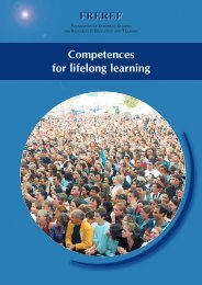 Competences for lifelong learning - Freref