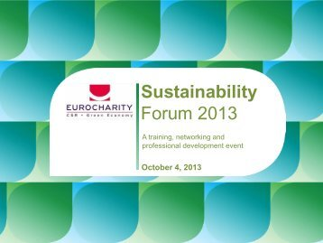 Sustainability Forum 2013