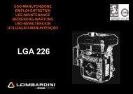 Libretto U.M. LGA 226 - lombardini service