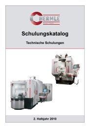 Schulungskatalog - Maschinenfabrik Berthold Hermle AG