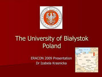 The University of Bialystok, Poland - Eracon.info