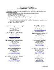 City Utilities of Springfield Heating & Cooling Contractors List