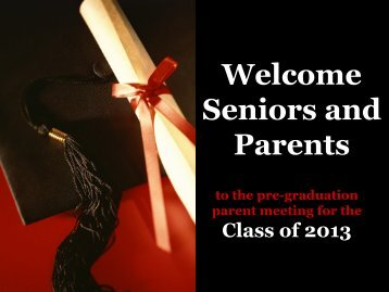 Welcome Senior Parents - Lake Orion Community Schools