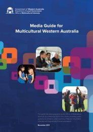 Media Guide for Multicultural Western Australia - Office of ...
