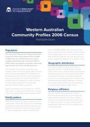 Western Australian Community Profiles 2006 Census-Vietnam Born