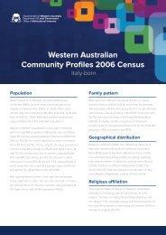 Western Australian Community Profiles 2006 Census-Italy Born