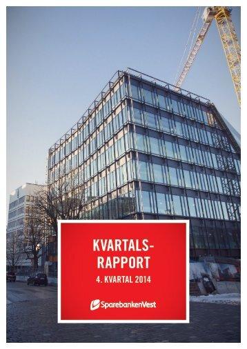 KVARTALS- RAPPORT