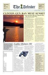 clinton gun ban must sunset - GrassRoots South Carolina