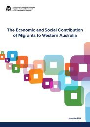 The Economic and Social Contribution of Migrants to Western ...