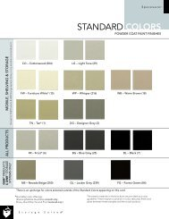 STANDARD COLORS - Modern Office Systems