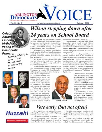 Huzzah! - Arlington County Democratic Party