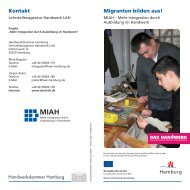 Was bietet das Projekt MIAH? -  Handwerkskammer Hamburg