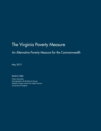 The Virginia Poverty Measure - Weldon Cooper Center for Public ...