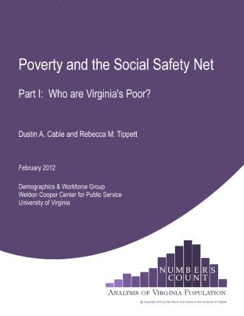 Who Are Virginia's Poor? - Weldon Cooper Center for Public Service