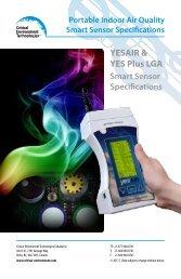 IAQ Sensor Specification - Critical Environment Technologies