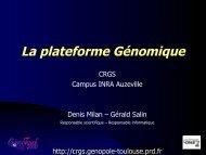 Le système d'information - plateforme Génomique