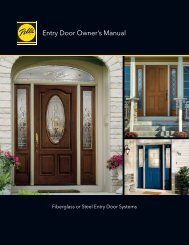 Entry Door Owner's Manual - Pella.com