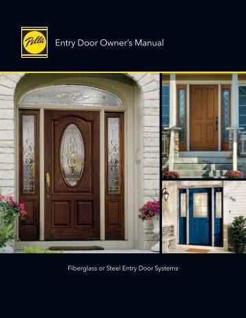 Entry Door Owner's Manual - Pella.com