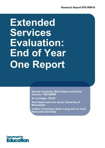 End of Year One Report - Digital Education Resource Archive (DERA)