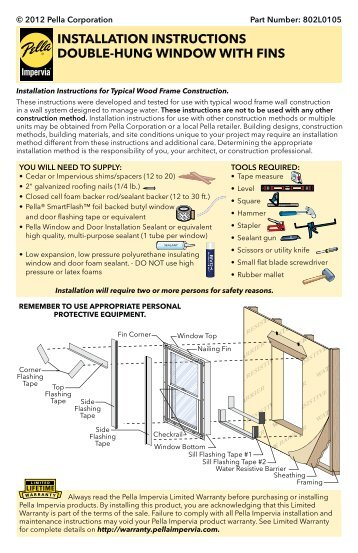 Clad Casement Awning Window Installation Instructions