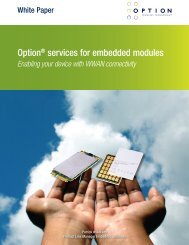 Option® services for embedded modules - Support