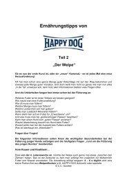 Ernährungstipps von - Hunde-Homepage.com