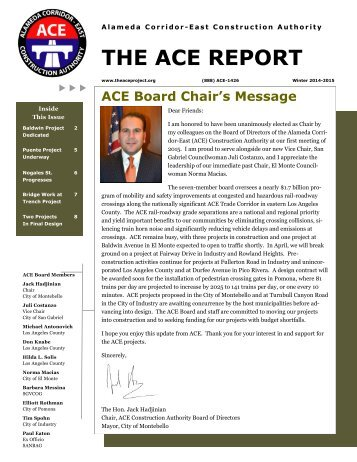ACE Report-Winter 2014-2015