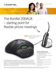 The Konftel 200AUX – starting point for flexible phone meetings