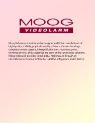 Moog Videolarm is an innovative designer and U.S.A. ... - Jenne Inc.