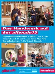 Das Handwerk auf der altonale 13 - Handwerkskammer Hamburg