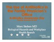Steben - Antibiotic Awareness