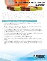 ANTIMICROBIAL RESISTANCE IN HOSPITALS - Antibiotic Awareness